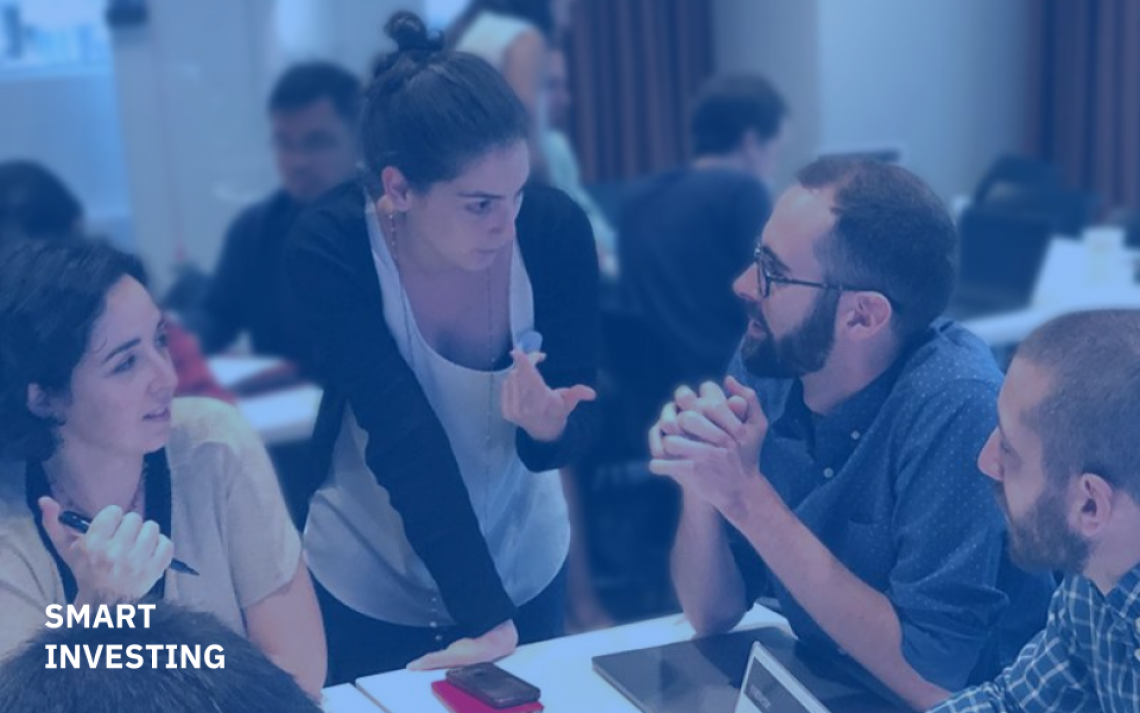 During a 3-day Data Science Cohort workshop in New York, UNICEF Innovation Data Scientist, Elisa Omodei mentors startups working on Data Science solutions.