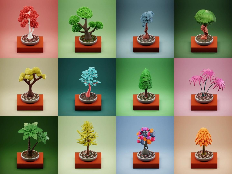 Animated trees